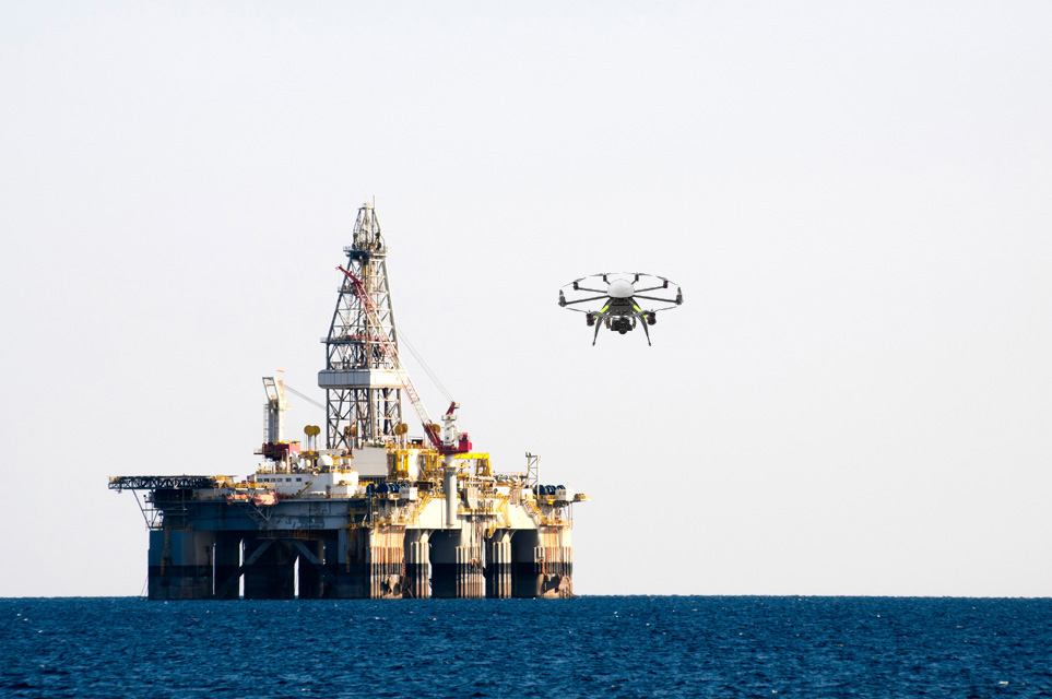 Oil Rig Safety Drones in Dubai